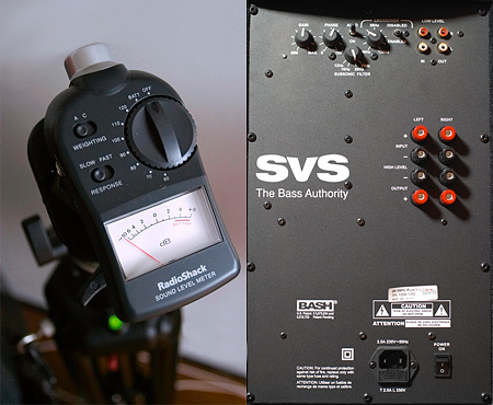 SVS backpanel & dB meter
